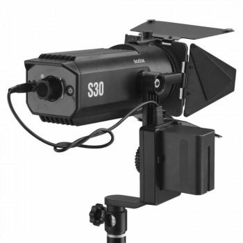 Godox S30 LED focusing light with SA-08