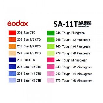 Godox set de filtros de color SA-11T para S30