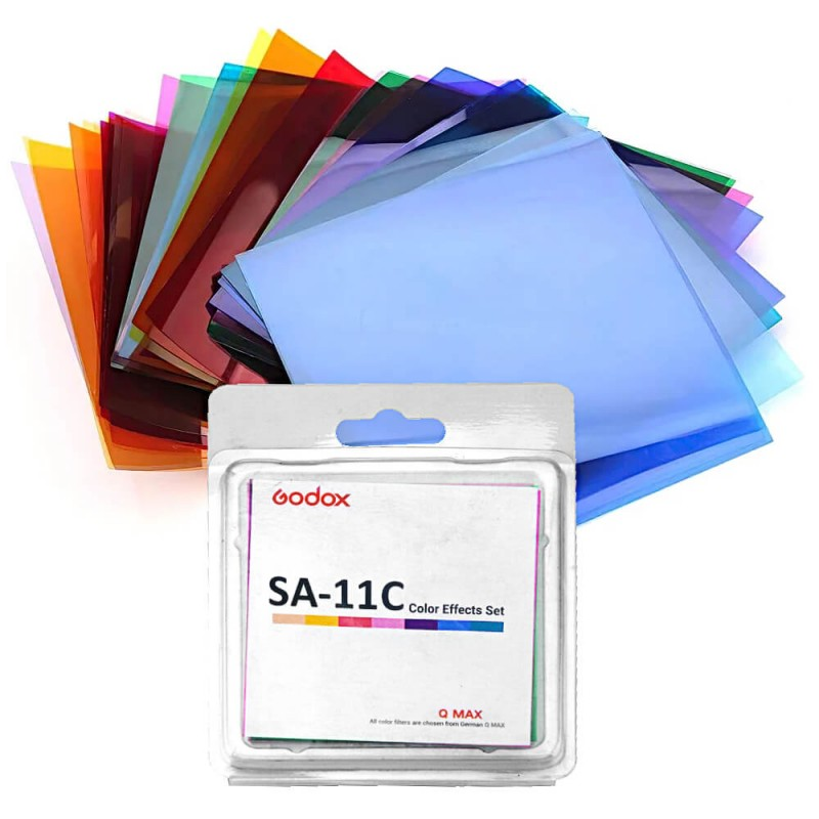 Godox set de filtros de color  SA-11C para S30